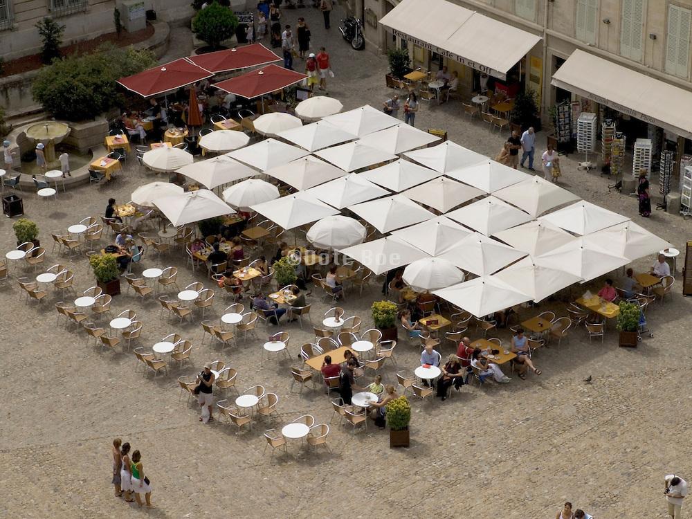 Avignon squire Place du Palais in front of Palais des Papes