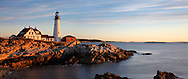 The Serene Beauty Of The Portland Head Light At Dawn, Portland Maine
