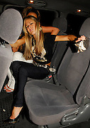 21.AUGUST.2007. LONDON<br /> <br /> A VERY DRUNK CHANTELLE HOUGHTON LEAVING FUNKY BUDDAH AT 3.00AM TO CELEBRATE HER 24TH BIRTHDAY AND SPLIT FROM HUSBAND PRESTON WITH DRINKING PARTNER NIKKI GRAHAME WHO WAS ALSO VERY DRUNK. THEY BOTH STUMBLED TO THE CAR EYES ROLLING HOLDING EACHOTHER UP AND IN THE CAR NICKY LOOKED SHE WAS GOING TO BE SICK AND MAKING FUNNY FACES WHILE CHANTELLE WAS HOLDING HER, THEY THEN BOTH STAGGERED OUT OF THE CAB WITH ALL THERE MAKE UP DOWN THERE FACE AND FINDING IT HARD TO WALK BEFORE GOING INTO THERE HOTEL IN MAYFAIR, CHANTELLE WASN'T WEARING HER WEDDING RING.<br /> <br /> BYLINE: EDBIMAGEARCHIVE.CO.UK<br /> <br /> *THIS IMAGE IS STRICTLY FOR UK NEWSPAPERS AND MAGAZINES ONLY*<br /> *FOR WORLD WIDE SALES AND WEB USE PLEASE CONTACT EDBIMAGEARCHIVE - 0208 954 5968*