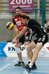 20181124 NED: Volleyball Top League ZVH - VCV: Zevenhuizen<br />Bobby Kooy (15) of MKB Accountants VCV, Hugo Rijken (3) of MKB Accountants VCV <br />©2018-FotoHoogendoorn.nl / Pim Waslander
