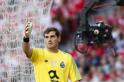 October 7, 2018 - Lisbon, Portugal - Iker Casillas of Porto reacts during the Portuguese League football match between SL Benfica and FC Porto at Luz Stadium in Lisbon on October 7, 2018. (Credit Image: © Carlos Palma/NurPhoto/ZUMA Press)