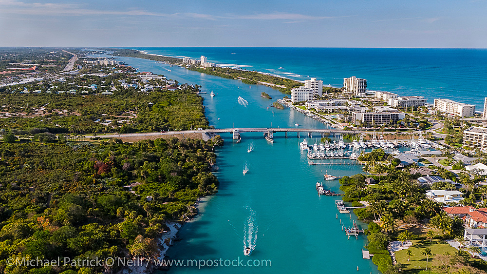Jupiter Island, Florida and the Intracoastal Waterway during the COVID 19 pandemic, when local beaches were closed to minimize the spread of the deadly Corona Virus.