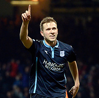 21/01/15 SCOTTISH PREMIERSHIP<br /> DUNDEE v KILMARNOCK<br /> DENS PARK - DUNDEE<br /> Dundee's Greg Stewart celebrates after slotting it home from the spot to put his side 1-0 up