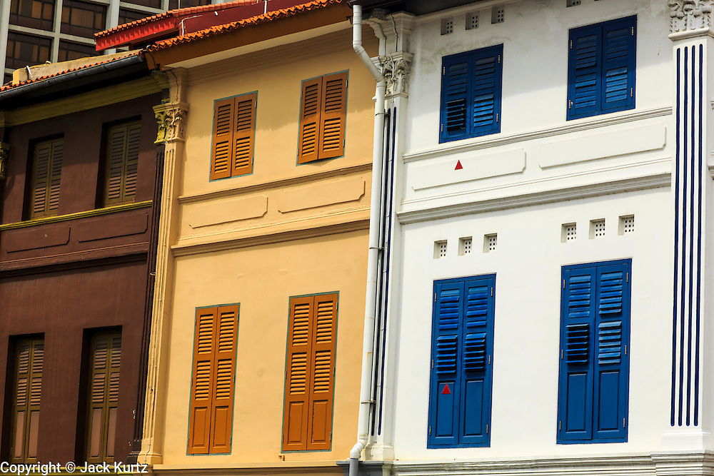17 DECEMBER 2012 - SINGAPORE, SINGAPORE: Traditional shophouses in the Arab section of Singapore in pedicabs.      PHOTO BY JACK KURTZ