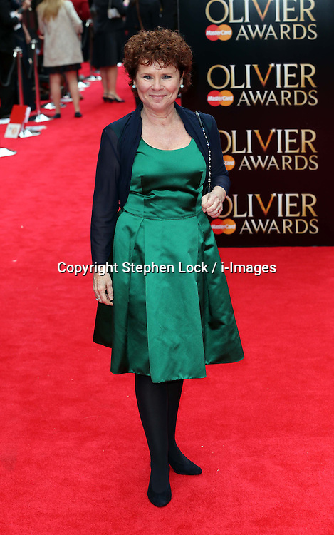 Imelda Staunton arriving at the Lawrence Olivier Awards in London, Sunday, 28th April 2013 Photo by: Stephen Lock / i-Images
