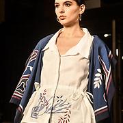 Indonesian Fashion Showcase - Jera at Fashion Scout London Fashion Week AW19 on 16 Feb 2019, at Freemasons' Hall, London, UK.