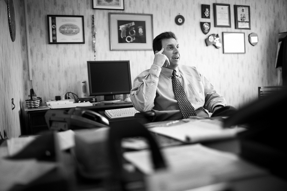 Special Agent Anthony Marotta of the DEA in his office in Columbus, Ohio on Thursday, April 9, 2009. The DEA have noticed an increasing number of Mexican cartels setting up small cells to traffic and distribute narcotics, primarily heroin, in Columbus, Ohio. Columbus has become a hub for narcotics trafficking as it lies between Chicago and the eastern seaboard.