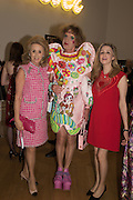 LADY WOLFSON; GRAYSON PERRY; ANTOINETTE JACKSON;, Royal Academy Summer exhibition party. Piccadilly. 7 June 2016