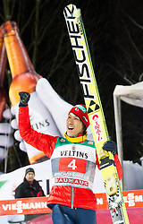 06.01.2015, Paul Ausserleitner Schanze, Bischofshofen, AUT, FIS Ski Sprung Weltcup, 63. Vierschanzentournee, Siegerehrung Tageswertung, im Bild Noriaki Kasai (JPN, 2. Platz) // 2nd placed Noriaki Kasai of Japan celebartes on podium during Award ceremony of 63rd Four Hills Tournament of FIS Ski Jumping World Cup at the Paul Ausserleitner Schanze, Bischofshofen, Austria on 2015/01/06. EXPA Pictures © 2015, PhotoCredit: EXPA/ Johann Groder
