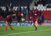 James Milner of Liverpool warms up during the Champions League group stage match between Paris Saint-Germain and Liverpool at Parc des Princes, Paris, France on 28 November 2018.