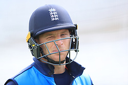Jos Buttler during the nets session at Trent Bridge, Nottingham.