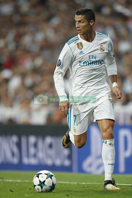 Cristiano Ronaldo of Real Madrid during the UEFA Champions League group H match between Real Madrid and APOEL FC on September 13, 2017 at the Santiago Bernabeu stadium in Madrid, Spain.