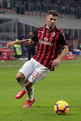 January 26, 2019 - Milan, Milan, Italy - Patrick Cutrone #63 of AC Milan in action during the serie A match between AC Milan and SSC Napoli at Stadio Giuseppe Meazza on January 26, 2018 in Milan, Italy. (Credit Image: © Giuseppe Cottini/NurPhoto via ZUMA Press)