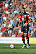 AFC Bournemouth's defender Steve Cook looks to pass the ball forward during the Barclays Premier League match between Bournemouth and Sunderland at the Goldsands Stadium, Bournemouth, England on 19 September 2015. Photo by Mark Davies.