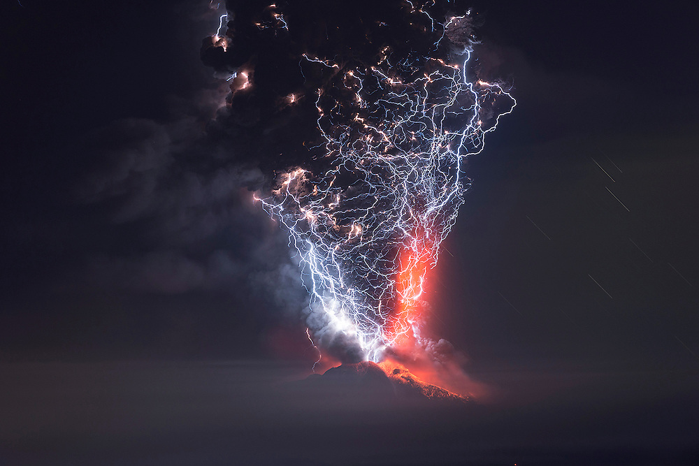 Calbuco Volcano Eruption, Chile.