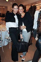 Left to right, KATYA FOMICHEV and JULIA BAUMHOFF at a ladies lunch at Ralph Laren, Westbourne Grove, London W11 hosted by Too Many Women in Support of Breakthrough Breast Cancer on 4th October 2010.