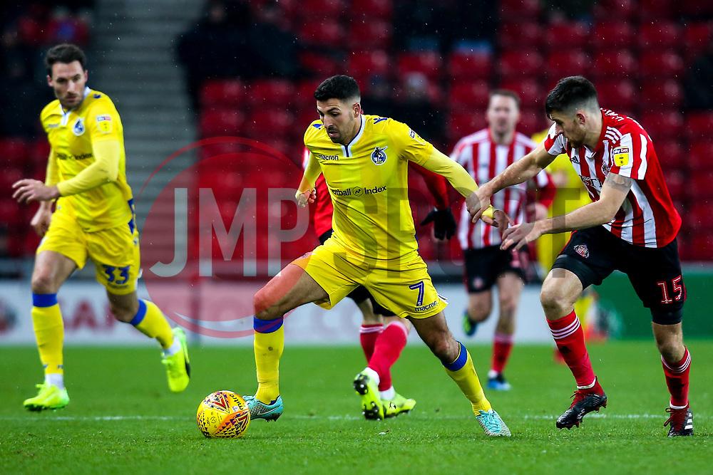 Liam Sercombe of Bristol Rovers takes on Jack Baldwin of Sunderland - Mandatory by-line: Robbie Stephenson/JMP - 15/12/2018 - FOOTBALL - Stadium of Light - Sunderland, England - Sunderland v Bristol Rovers - Sky Bet League One