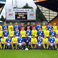 St Johnstone FC photocall season 2001/02<br />Back from left, Momo Sylla, Martin Maher, Darren Dods, Kevin Welsh, Graeme Jones, Craig Devlin, Alan main, Kevin Cuthbert, Nick Dasovic, Brendan Crozier, Darren Jackson, Craig Scates and Mark McCulloch<br />Middle row from left, Nick Summersgill (physio), Manny Panther, Stuart McCluskey, David Dodds, Tommy Lovenkrands, Barry Thompson, John Paul McBride, Chris Conway, Stephen Frail, Nathan McConnell, Ross Forsyth, Frazer Briggs, Paddy Connolly, Mark Ferry, Paul Kane and Atholl Henderson (community coach)<br />Front row from left, Henry Hall (youth coach), David McClune, Steven McIntyre, Paul Hartley, Stven McDonald, Rachid Djebaili, Martyn Fotheringham, Jim Weir, Sandy Clark (Manager), Peter Lynch, Keigan Parker, Martin Lauchlan, Grant Murray, David Noble, Craig Russell, Mark Baxter and Billy Kirkwood (Asst Manager)<br /><br /><br />Picture by Graeme Hart.<br />Copyright Perthshire Picture Agency<br />Tel: 01738 623350  Mobile: 07990 594431