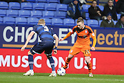 Freddie Sears, Ipswich Town forward runs at Bolton Wanderers defender Dean Moxey during the Sky Bet Championship match between Bolton Wanderers and Ipswich Town at the Macron Stadium, Bolton, England on 8 March 2016. Photo by Simon Brady.