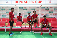 FC Goa players arrive during the 1st semi final match of the Hero Super Cup between East Bengal and FC Goa held at the Kalinga Stadium, Bhubaneswar, India on the 16th April 2018<br /> <br /> Photo by: Deepak Malik / SPORTZPICS