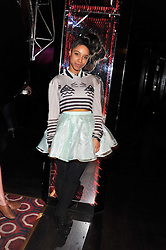LIANNE LE HAVAS at a party hosted by TopShop to celebrate 10 years of NEWGEN and 10 years of supporting Brtish Fashion held at Le Baron, 29 Old Burlington Street, London W1 on 21st February 2012.
