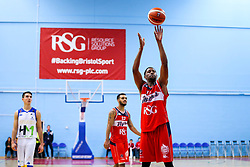 Rhondell Goodwin of Bristol Flyers - Rogan/JMP - 13/10/2017 - BASKETBALL - SGS Wise Arena - Bristol, England. - Bristol Flyers v Cheshire Pheonix - BBL Cup.