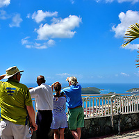 People at Skyline Drive Overlook in Charlotte Amalie, Saint Thomas<br />