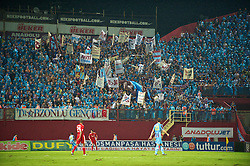 TRABZON, TURKEY - Thursday, August 26, 2010: Trabzonspor's supporters during the UEFA Europa League Play-Off 2nd Leg match against Liverpool at the Huseyin Avni Aker Stadium. (Pic by: David Rawcliffe/Propaganda)