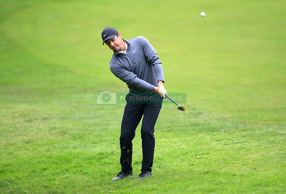 Northern Ireland's Rory McIlroy on the 17th hole during day two of the 2018 BMW PGA Championship at Wentworth Golf Club, Surrey. PRESS ASSOCIATION Photo. Picture date: Friday May 25, 2018. See PA story GOLF Wentworth. Photo credit should read: Adam Davy/PA Wire. RESTRICTIONS: Use subject to restrictions. Editorial use only. No commercial use.