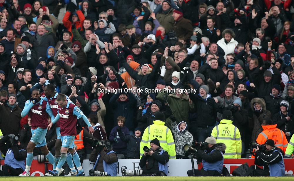 26/12/2010 - Barclays Premier League - Fulham vs. West Ham United - Frederic Piquionne of West Ham (L) celebrates after scoring their 2nd goal - Photo: Simon Stacpoole / Offside.