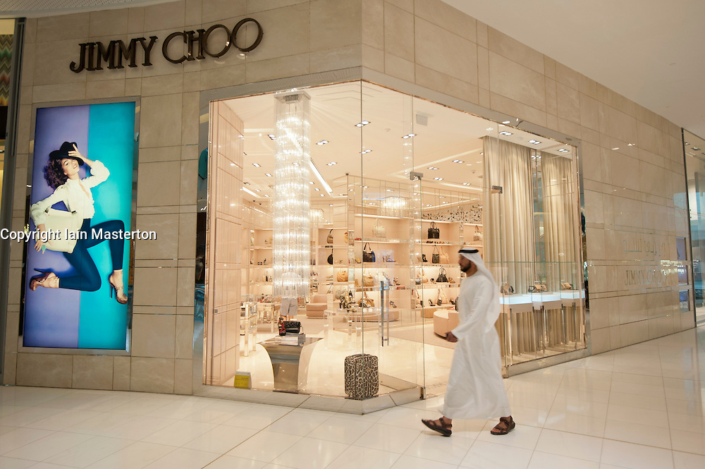 Jimmy Choo store n Dubai Mall in Dubai United Arab Emirates UAE