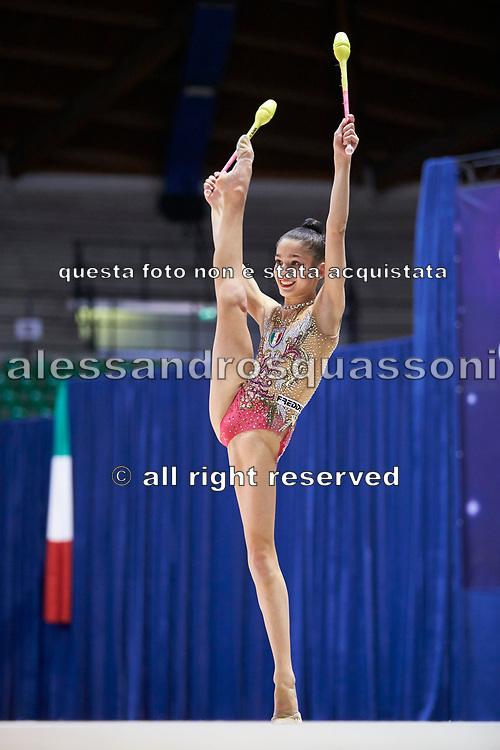 """Sofia Raffaeli by team italia of rhythmic gymnastics  during the """"7th tournament city of Desio"""", 09 March 2019."""