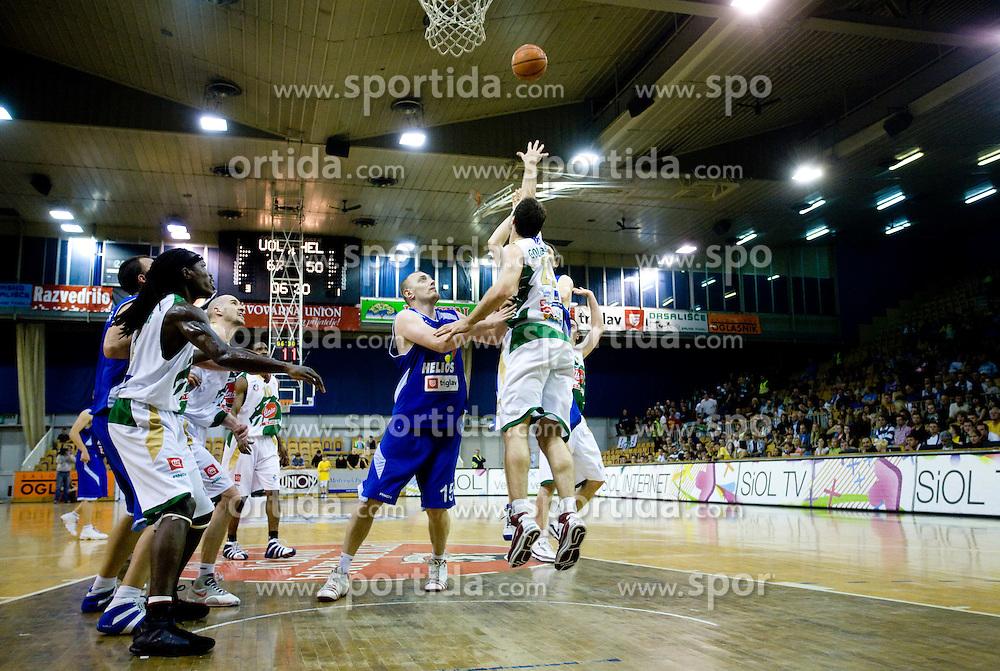 at third finals basketball match of Slovenian Men UPC League between KK Union Olimpija and KK Helios Domzale, on June 2, 2009, in Arena Tivoli, Ljubljana, Slovenia. Union Olimpija won 69:58 and became Slovenian National Champion for the season 2008/2009. (Photo by Vid Ponikvar / Sportida)
