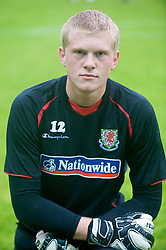 Wrexham, Wales - Wednesday, August 12th, 2009: Wales' David Cornell before the UEFA Under 21 Championship Qualifying Group 3 match at the Racecourse Ground. (Photo by Chris Brunskill/Propaganda)