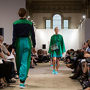 13.05.2016.           <br /> A model showcases designs by Gillian Lee titled 'Reveal'  at the much anticipated Limerick School of Art & Design, LIT, (LSAD) Graduate Fashion Show on Thursday 12th May 2016. The show took place at the LSAD Gallery where 27 graduates from the largest fashion degree programme in Ireland showcased their creations. Ranked among the world's top 50 fashion colleges, Limerick School of Art and Design is continuing to mold future Irish designers.. Picture: Alan Place/Fusionshooters