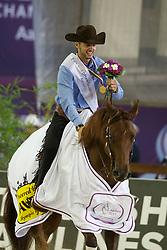 Masi De Vargas Giovanni, (ITA), Dance Little Spook<br /> Reining individual<br /> European Championships - Aachen 2015<br /> © Hippo Foto - Dirk Caremans<br /> 16/08/15