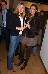 Left to right, TORTY LEWIS and NICOLA LAWRIE at a private view of paintings by George Lewis held at the Air Gallery, 32 Dover Street, London W1 on 5th October 2005.<br />