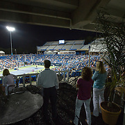 August 21, 2014, New Haven, CT:<br /> Guests enjoy the stadium suites on day seven of the 2014 Connecticut Open at the Yale University Tennis Center in New Haven, Connecticut Thursday, August 21, 2014.<br /> (Photo by Billie Weiss/Connecticut Open)