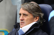 Picture by Paul Chesterton/Focus Images Ltd.  07904 640267.03/12/11.Man City Manager Roberto Mancini before the Barclays Premier League match at the Etihad Stadium, Manchester.