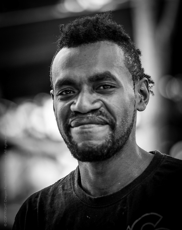 Candid portrait from the island of Efate in Vanuatu.