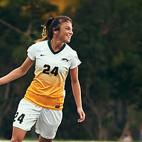4th year defender, Brigit Sinaga (24) of the Regina Cougars during the Women's Soccer home opener on Sat Sep 08 at U of R Field. Credit: Arthur Ward/Arthur Images