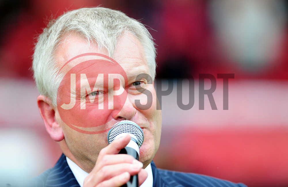 Bristol City Chairman Steve Lansdown makes an emotional appearance before the game in his last game as Chairman - Photo mandatory by-line: Joe Meredith/JMP - 07/05/2011 - SPORT - FOOTBALL - Championship - Bristol City v Hull City  - Ashton Gate Stadium, Bristol, England
