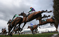 Mr Love ridden by Richard Johnson collides with Ceann Sibheal ridden by Harry Bannister in the 188Bet Stephen Allday Perpetual Plate Chase at Warwick Racecourse. PRESS ASSOCIATION Photo. Picture date: Wednesday March 28, 2018. See PA story RACING Warwick. Photo credit should read: David Davies/PA Wire