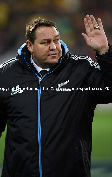 Coach Steve Hansen. New Zealand All Blacks versus South Africa Springboks. The Rugby Championship. Rugby Union Test Match. Wellington. New Zealand. Saturday 13 September 2014. Photo: Andrew Cornaga/www.Photosport.co.nz
