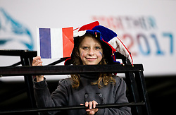 Fan of France during the 2017 IIHF Men's World Championship group B Ice hockey match between National Teams of Norway and France, on May 6, 2017 in Accorhotels Arena in Paris, France. Photo by Vid Ponikvar / Sportida