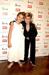 Left to right, KRISTIE BIRD and KIRSTEEN LUPTON at a fashion show featuring designs by Diesel Kid's FW05 collection held in The Georgian Restaurant at Harrod's on 1st September 2005.  Proceeds from the event went to the Graet Ormond Street Hospital.<br /><br />NON EXCLUSIVE - WORLD RIGHTS