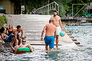 Kaspar Allenbach is one of the brains behind the popular app Aare Guru, which gives live temperature and weather report targeted to the Aare river . The Aare river floats right through the Swiss capital Bern, and as soon as the temperature crawls above 10 degrees, people are seen jumping in the water for a swim. Many use the river regularly to swim to lunch or to and from work. Some even swim year round.