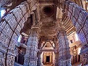 India, Madhya Pradesh. Gwalior. Sas Bahu Temple.