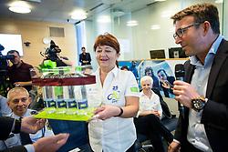 Mojca Novak and Luka Velepič, CEO of Costella d.o.o.during press conference of cycling race Tour Slovenia 2018, on May 17, 2018, in Ljubljana, Slovenia. Photo by Vid Ponikvar / Sportida