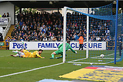 Millwall's Lee Gregory(9) shoots at goal scores a goal 1-3 during the EFL Sky Bet League 1 match between Bristol Rovers and Millwall at the Memorial Stadium, Bristol, England on 30 April 2017. Photo by Shane Healey.